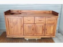 [8成新] A0413BJJJ 柚木餐櫃碗盤櫥櫃有輕微破損
