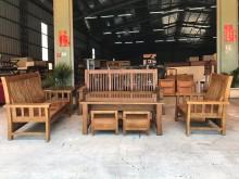 [全新] 新品樟木3+2+1沙發+大小茶几木製沙發全新