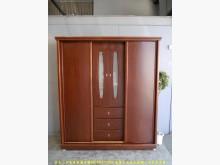 [9成新] 二手胡桃色185公分多收納大衣櫃衣櫃/衣櫥無破損有使用痕跡