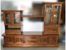 [7成新及以下] 木色8尺電視櫃 高低櫃電視櫃有明顯破損
