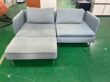 [9成新] 吉田二手傢俱❤IKEA布L型沙發L型沙發無破損有使用痕跡