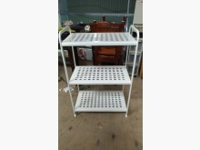 [9成新] 【尚典中古家具】白色三層置物鐵架收納櫃無破損有使用痕跡