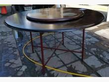 [8成新] 三合二手物流(實木5尺圓桌)餐桌有輕微破損