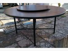[8成新] 三合二手物流(木芯板5尺圓桌)餐桌有輕微破損