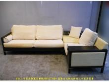 [9成新] 二手胡桃色281公分L型布沙發L型沙發無破損有使用痕跡