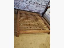 柚木Queez 加大雙人床架雙人床架無破損有使用痕跡