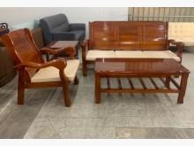 [95成新] 實木沙發茶几組/客廳沙發木製沙發近乎全新