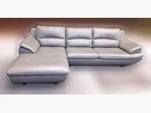 [8成新] 半牛皮L型沙發L型沙發有輕微破損