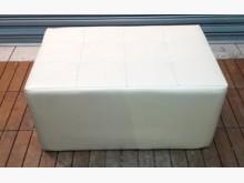 [8成新] 白色豆腐椅單人沙發有輕微破損