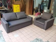 [9成新] 喆 二手傢俱/亞麻灰1+2布沙發多件沙發組無破損有使用痕跡