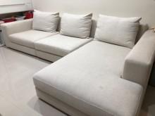 [9成新] inmodi北歐風米白色沙發出售L型沙發無破損有使用痕跡