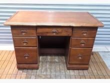 [8成新] 七抽半樟木主管桌書桌/椅有輕微破損
