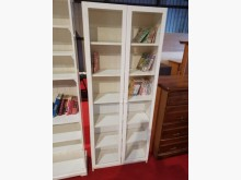 [8成新] 本月超值星雪白玻璃三尺書櫃書櫃/書架有輕微破損