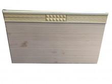 [7成新及以下] 白橡色5尺床頭片床頭櫃有明顯破損