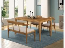[全新] 4.6呎栓木餐桌折扣價10500餐桌全新
