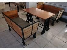 [9成新] 三合二手物流(實木工業風桌椅組)餐桌椅組無破損有使用痕跡
