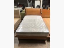 大慶二手家具 四尺赤楊木色掀床組單人床架無破損有使用痕跡