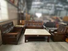 [9成新] 實木3+2+1沙發組(可收納)木製沙發無破損有使用痕跡