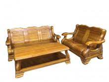 [8成新] *A52215*2+3大茶几組椅木製沙發有輕微破損