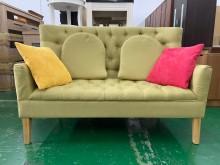 [9成新] 吉田二手傢俱❤簡約雙人布藝沙發雙人沙發無破損有使用痕跡