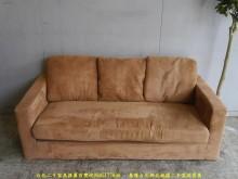 [9成新] 二手咖啡色172公分三人布沙發雙人沙發無破損有使用痕跡