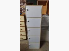 [9成新] 【尚典】雙色直立五門置物櫃收納櫃無破損有使用痕跡