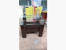 [9成新] 【尚典中古家具】胡桃色玻璃方几茶几無破損有使用痕跡