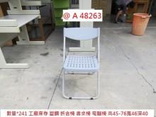 [95成新] @A48263 灰 庫存 折合椅書桌/椅近乎全新