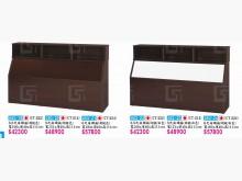 [全新] 高上{全新}214塑鋼5尺收納床雙人床架全新