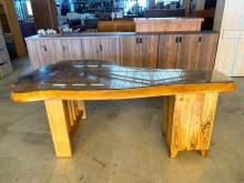 [9成新] 大慶二手家具 樟木泡茶桌(含玻)其它桌椅無破損有使用痕跡