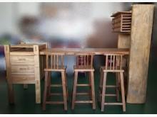 [全新] LG0103雨豆木紅酒櫃+吧檯桌其它古董家具全新
