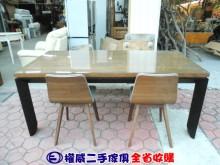 [9成新] 權威二手傢俱/6尺工業風餐桌椅組餐桌椅組無破損有使用痕跡