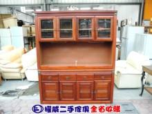 [9成新] 權威二手傢俱/5.5尺實木餐櫃碗盤櫥櫃無破損有使用痕跡