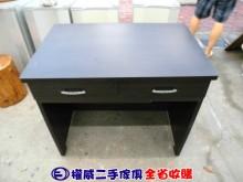 [9成新] 權威二手傢俱/3尺胡桃色二抽書桌書桌/椅無破損有使用痕跡