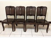 [7成新及以下] 二手 胡桃餐椅x4張 桃園區免運餐椅有明顯破損