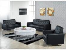 [全新] 2001664-A標緻黑皮沙發組多件沙發組全新