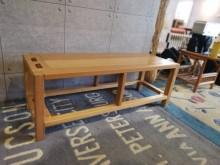[95成新] 九成新北歐時尚原木茶几 長椅茶几近乎全新