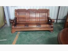 [9成新] 01786-實木3人座木沙發木製沙發無破損有使用痕跡