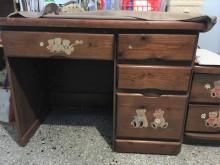 [9成新] 01794-實木書桌書桌/椅無破損有使用痕跡