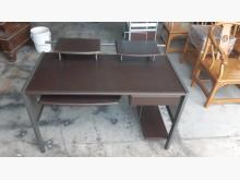 [9成新] 胡桃色4尺電腦書桌電腦桌/椅無破損有使用痕跡