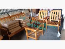 [9成新] 尋寶屋~實木椅+10個座墊木製沙發無破損有使用痕跡