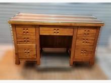 [8成新] 樟木七抽書桌書桌/椅有輕微破損