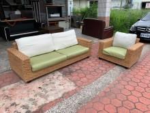 [8成新] 海南島度假風1+3人座藤製沙發椅籐製沙發有輕微破損