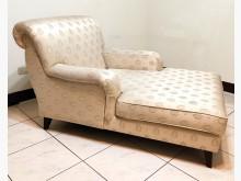 [8成新] 二手單人緹花布貴妃椅 桃園區免運單人沙發有輕微破損