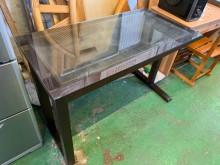 [9成新] 幾何設計四尺書桌(含玻璃)書桌/椅無破損有使用痕跡