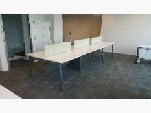 [8成新] 合運二手傢俱~六人座辦公桌辦公桌有輕微破損