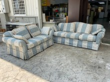 [9成新] 吉田二手傢俱❤2+3布沙發組多件沙發組無破損有使用痕跡