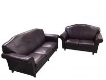[9成新] A60607 * 2+3紫皮沙發多件沙發組無破損有使用痕跡