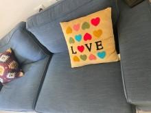 [9成新] IKEA3人座沙發,搬家隨意賣雙人沙發無破損有使用痕跡