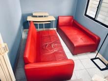 [8成新] 【贈】沙發‧中和‧自取雙人沙發有輕微破損